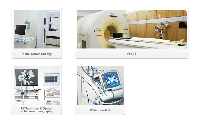 Digital Mammography/Pet-CT/RETIport-scan & Optical coherence tomography/Water Lase MD